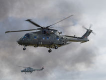 Royal Navy Merlin helicopter Royalty Free Stock Image