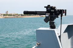 Royal Navy Mini Gun Royalty Free Stock Photos