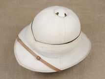 Royal Navy officers sun helmet Stock Photography