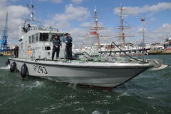 Royal Navy patrol boat Stock Photos