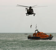 Royal Navy & RNLI Rescue at Airbourne 2015 Stock Image