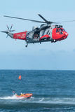 Royal Navy Sea King Rescue Helicopter Stock Photography