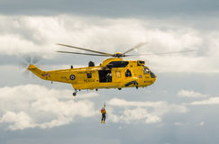 Royal Navy Sea King Search and Rescue Helicopter Stock Photos
