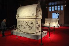 Lycian Sarcophagus, Sidon. Royalty Free Stock Photos
