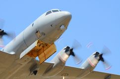 Royal New Zealand Air Force Lockheed P-3 Orion plane royalty free stock photography