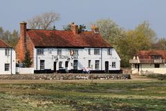 The Royal Oak Langstone. The Royal Oak Public house in Langstone, Hampshire, England. Seafront pub and sunny garden overlooking a wildlife sanctuary, with a cosy Stock Images