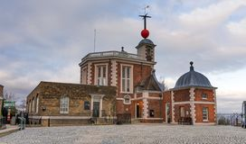 The Royal Observatory, Greenwich, London, United Kingdom. The Royal Observatory, Greenwich is an observatory situated on a hill in Greenwich Park, overlooking royalty free stock photo