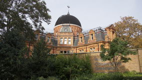 The Royal Observatory in Greenwich park near London. The Royal Observatory is situated in Greenwich park near the city of London in Great Britain stock photos