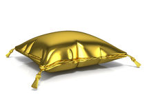 Royal old gold pillow. 3D render Stock Images