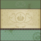 Royal old paper background luxury green Stock Photography