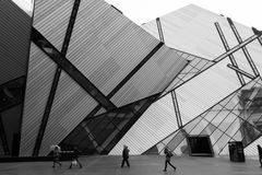 Royal Ontario Museum Black and White Stock Image