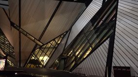 Royal Ontario Museum ROM in Toronto stock video footage