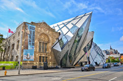 Royal Ontario Museum in a sunny day in Toronto