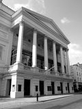 The Royal Opera House (monochrome). The Royal Opera House is an internationally famous performing arts venue in the London district of Covent Garden. It is the Stock Images