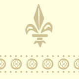 Royal ornament. Seamless pattern with ornaments of royal lilies Royalty Free Stock Images