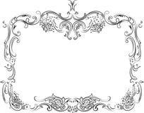 Royal Ornate Calligraphy Frame royalty free illustration