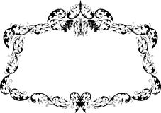 Royal Ornate Calligraphy Frame Stock Photo