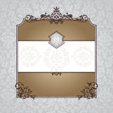 Royal ornate vintage frame Royalty Free Stock Photos