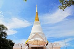 The Royal Pagoda Phra Chedi Luang, Songkhla, Thailand. The Royal Pagoda Phra Chedi Luang is located at Tang Kuan mountain, Songkhla, Thailand Stock Images
