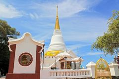 The Royal Pagoda Phra Chedi Luang, Songkhla, Thailand. The Royal Pagoda Phra Chedi Luang is located at Tang Kuan mountain, Songkhla, Thailand Royalty Free Stock Images