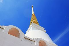 The Royal Pagoda Phra Chedi Luang, Songkhla, Thailand. The Royal Pagoda Phra Chedi Luang is located at Tang Kuan mountain, Songkhla, Thailand Royalty Free Stock Photo