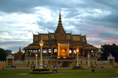 Royal Palace σε Pnom Penh Στοκ Εικόνες
