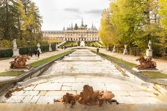 Royal Palace του Λα Granja de SAN Ildefonso στοκ εικόνες