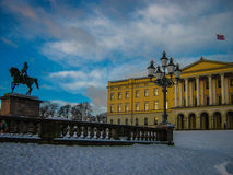 Royal Palace, Όσλο Στοκ Φωτογραφίες