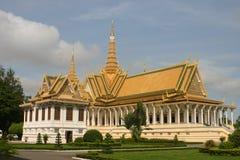 Royal palace. Throne hall at the royal palace in phnom penh Stock Photography