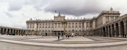 Royal Palace. Madrid, Spain - April 7, 2012 - The Royal Palace is the official residence of the king of Spain, mainly used for official ceremonies Stock Photo