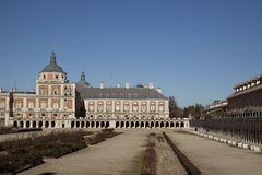 The royal palace. In the city of Aranjues, Spain stock images