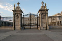 Royal Palace. Gate of Royal Palace in Madrid, Spain Royalty Free Stock Photos