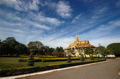 Royal Palace. A royal palace at Phnom Penh in combodia Royalty Free Stock Photography