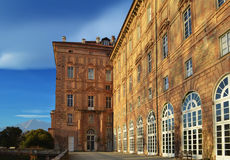 Royal Palace. Agliè, Italy. Palazzo Ducale in Agliè, Italy. Castle in a sunny day Royalty Free Stock Image