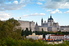 Royal Palace and Almudena Cathedral, Madrid Royalty Free Stock Images