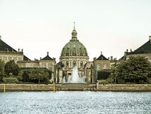 Royal palace Amalienborg, cathedral Denmark Stock Images