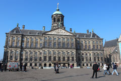 Royal Palace in Amsterdam Royalty-vrije Stock Foto's