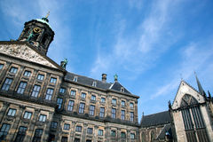 Royal Palace in Amsterdam Royalty Free Stock Images