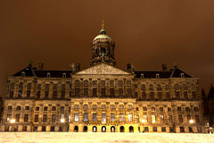 Royal Palace in Amsterdam on the Dam Square in the evening. Netherlands Stock Images