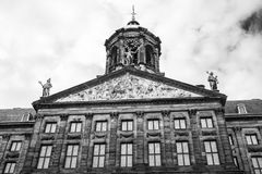 The Royal palace on Dam Square. This is the royal Palace in Amsterdam on Dam Square. This palace used to be the house where our queens and kings lived years ago royalty free stock images