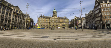 Royal Palace of Amsterdam in Dam Square Stock Images
