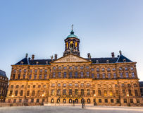 Royal Palace in Amsterdam, Nederland Royalty-vrije Stock Fotografie