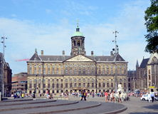 Royal Palace in Amsterdam Stock Photos