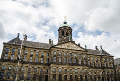 Royal Palace of Amsterdam. The Royal Palace in Amsterdam is one of three palaces in the Netherlands which are at the disposal of the monarch by Act of Parliament stock photography