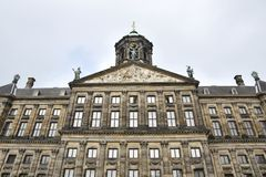 Royal palace of Amsterdam. The Royal Palace of Amsterdam in Amsterdam is one of three palaces in the Netherlands which are at the disposal of the monarch by Act stock photography