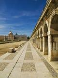 Royal Palace of Aranjuez. Beautiful view of one side of the Royal Palace of Aranjuez Royalty Free Stock Photography
