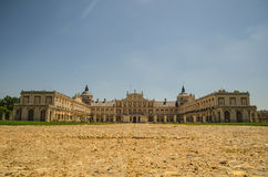 Royal palace of Aranjuez front view. Front view of Royal Palace of Aranjuez in Aranjuez, Madrid, Spain Stock Photography