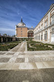 Royal Palace of Aranjuez, located in the Royal Site, Spain. Aranjuez, Spain - October 16, 2016: Royal Palace of Aranjuez, located in the Royal Site and town of Stock Photo