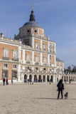 Royal Palace of Aranjuez, located in the Royal Site, Spain. Aranjuez, Spain - October 16, 2016: Royal Palace of Aranjuez, located in the Royal Site and town of Royalty Free Stock Images