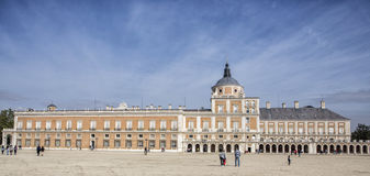 Royal Palace of Aranjuez, located in the Royal, Spain. Aranjuez, Spain - October 16, 2016: Royal Palace of Aranjuez, located in the Royal Site and town of Royalty Free Stock Image